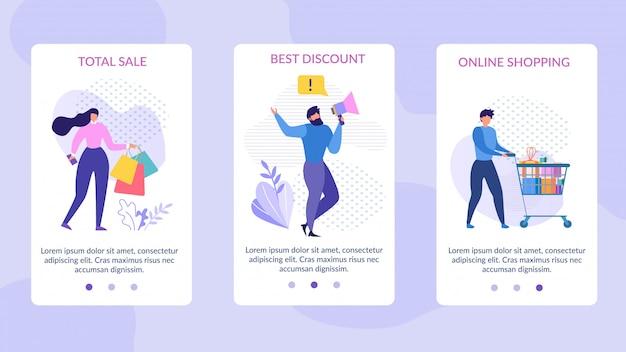 Mobile seiten für verkauf werbung festgelegt