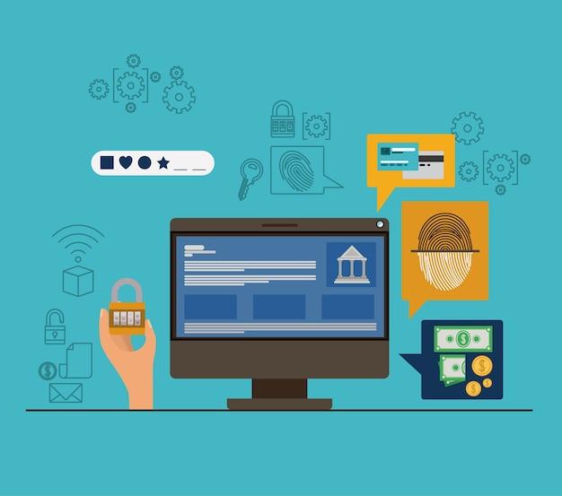 Mobile sicherheit mit desktop-computer und sicheren apps