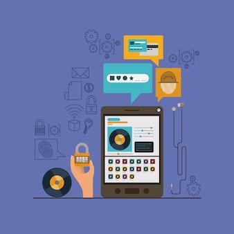 Mobile sicherheit mit tablet-gerät und sicheren apps