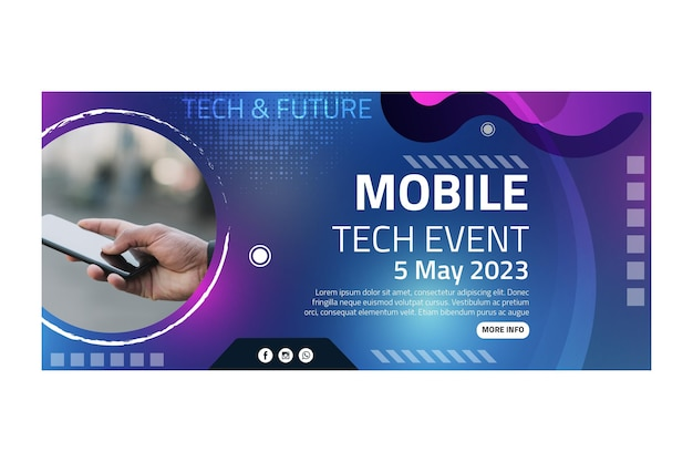 Mobile tech banner vorlage