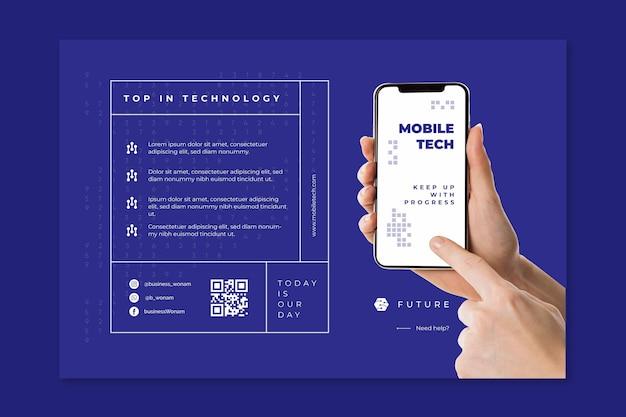 Mobile tech banner vorlage