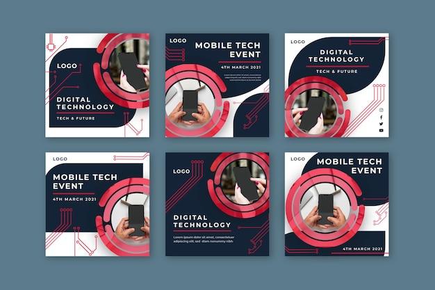 Mobile tech instagram beiträge sammlung
