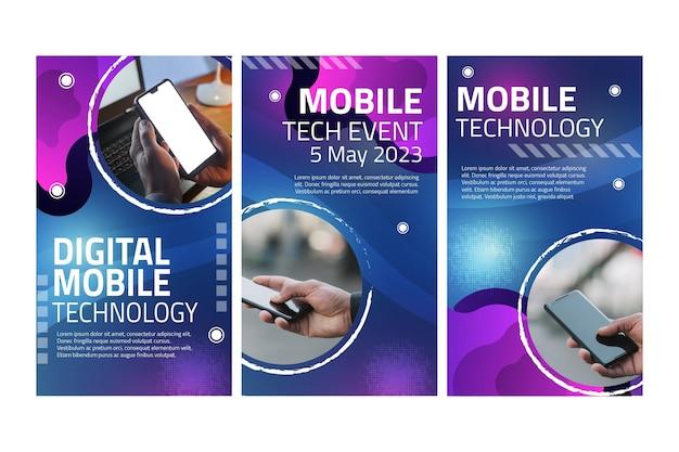 Mobile tech instagram geschichten