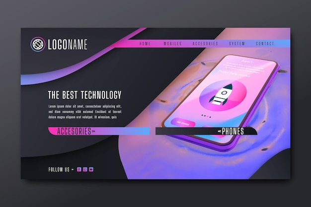 Mobile tech instagram landing page