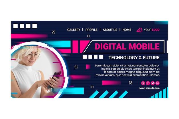 Mobile tech landing page