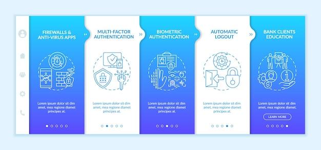 Mobile vorlage für die onboarding-app für die multifaktorauthentifizierung