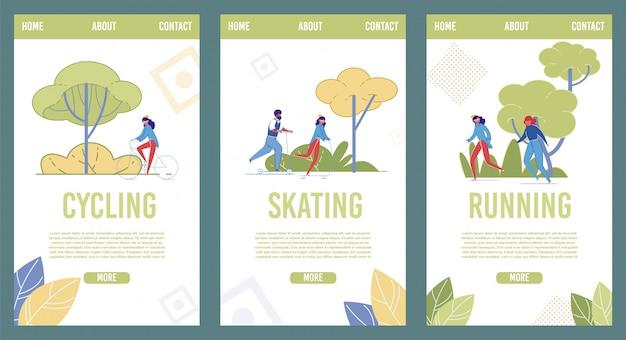 Mobile webseitenvorlagen für sportive recreation mobile