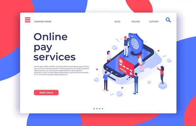 Mobile zahlungen. menschen zahlen über pos-terminal mit smartphone, digitaler zahlung und online-bezahldienst illustration