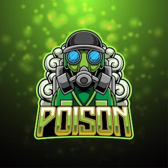 Mobilepoison esport-maskottchen-logo-design