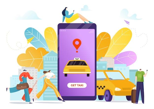 Mobiler dienst mit karte online-illustration