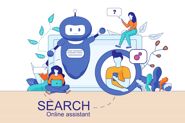 Mobiler und pc smart search online-assistent