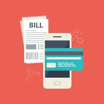 Mobiles bezahlungskonzept