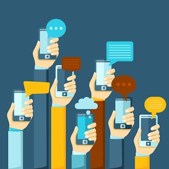 Mobiles chat-poster