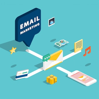 Mobiles marketing, e-mail-werbung, publikumsbildung, digitales direktmarketing.