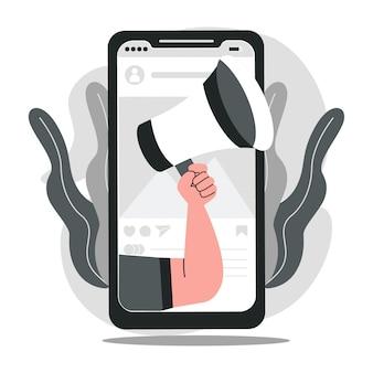 Mobiles marketingkonzept