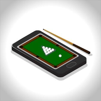 Mobiles pool spiel