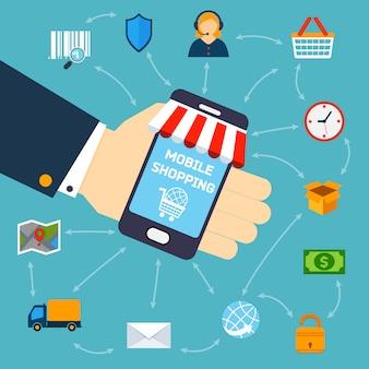 Mobiles shopping-konzept
