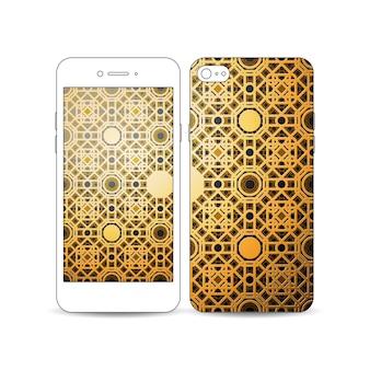 Mobiles smartphone mit einem beispiel für das bildschirm- und cover-design