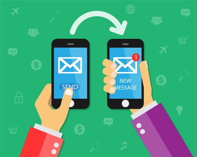 Mobiltelefon eine neue nachricht senden