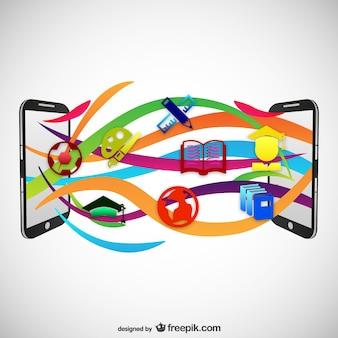 Mobiltelefon-übertragung von bildungs symbole