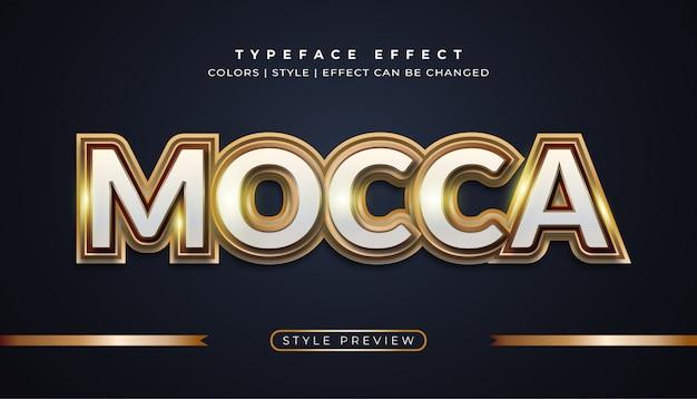 Mocca gold texteffekte