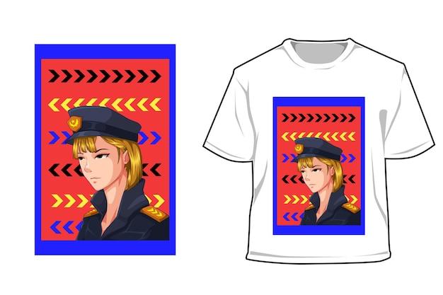 Mock-up-polizeifrau-charakter