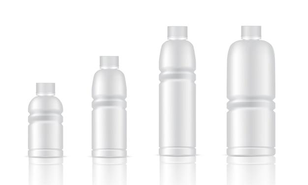 Mock up realistische kunststoffverpackung produkt