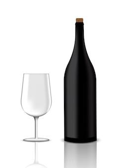 Mock up realistische premium rotwein