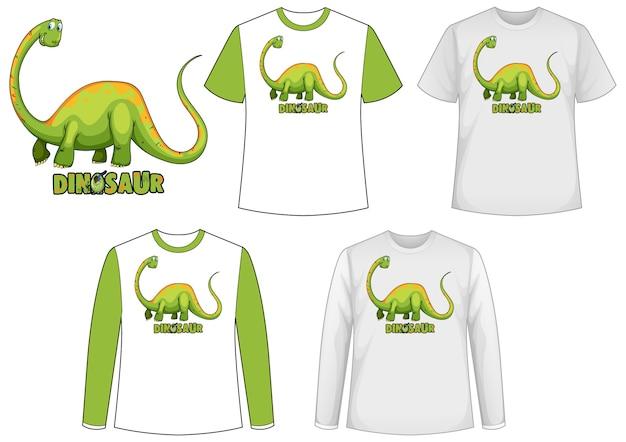 Mock-up-shirt mit dinosaurier-zeichentrickfigur