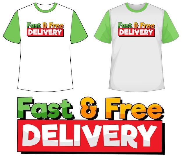 Mock-up-shirt mit lieferungssymbol