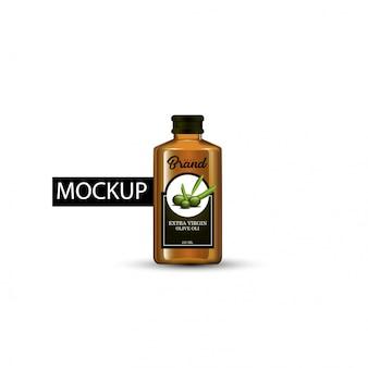 Mock-up-vorlage flasche