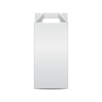 Mock-up weinflasche und faltpaket weinflasche vorlage. illustration der geschenkhandwerksbox für, hintergrund, banner. vorderansicht
