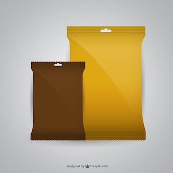 Mockup-design der verpackung