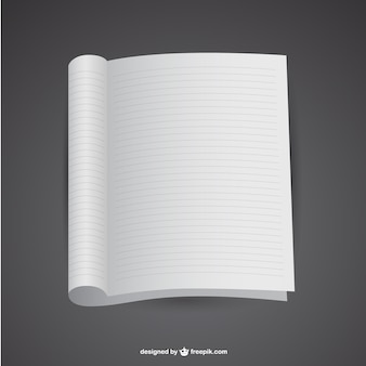 Mockup offene notebook-vektor-vorlage