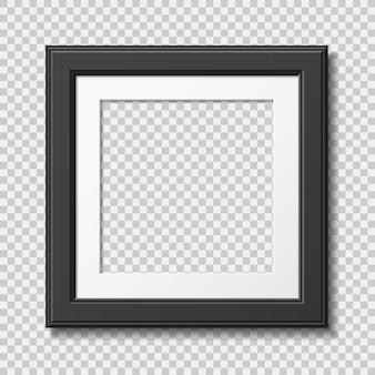 Mockup realistischer moderner rahmen für foto oder bilder mit schatten lokalisiert auf transparentem hintergrund