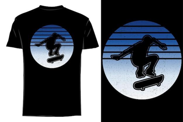 Mockup t-shirt silhouette hellflip skate retro vintage
