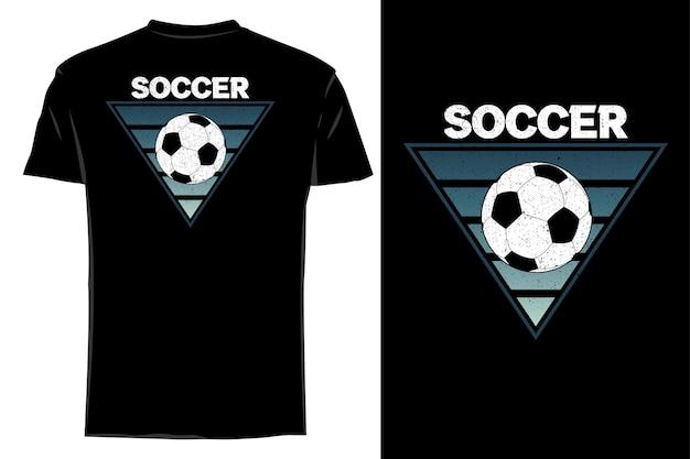 Mockup t-shirt silhouette klassischer fußball retro vintage