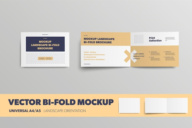 Mockup-vektorbroschüre universelle horizontale ausrichtungsbroschüre für die designpräsentation