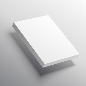 Mockup-vorlage von 3d-aktien von seiten oder box