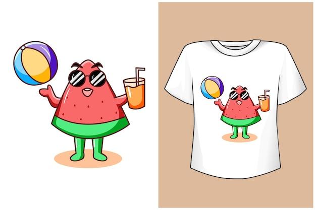 Mockup wassermelone genießen sie den sommer