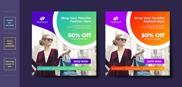 Mode business social media post banner vorlage