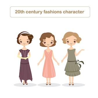 Mode-charakter des 20. jahrhunderts