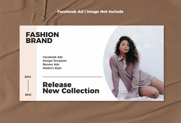 Mode facebook vorlage anzeige moderne minimalistische design-vorlage