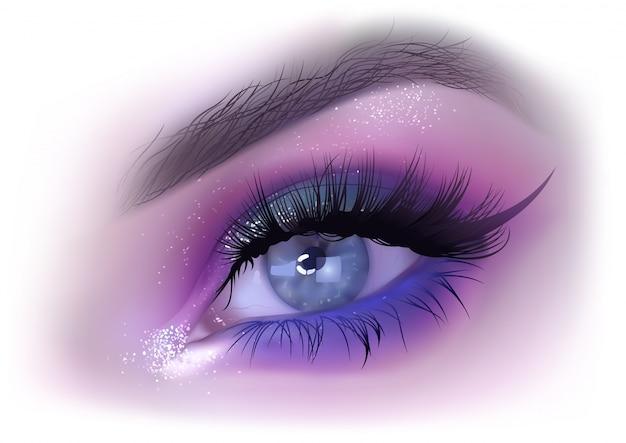 Mode frau augen make-up