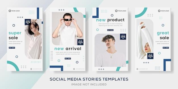 Mode große verkaufsgeschichten post-banner-vorlage