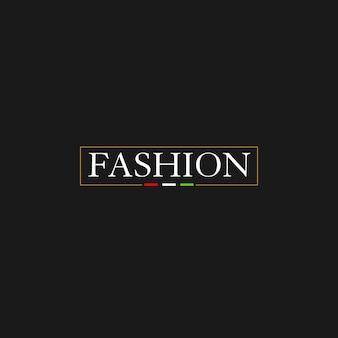 Mode hipster ribbon minimal logo design
