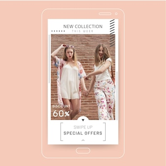 Mode instagram geschichte konzept