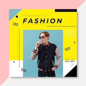 Mode instagram post vorlage