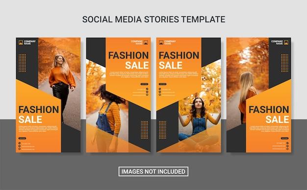 Mode instagram post vorlagensatz