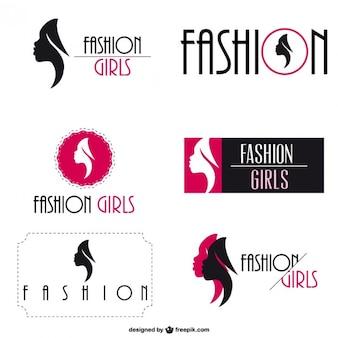 Mode-logo visuelle identität satz